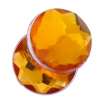 Acrylic 12mm Round Facet Marigold